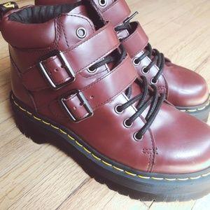 Dr. Martens Platform Red Burgundy Bryony Boot Docs